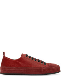 Red calf hair sneakers medium 641988