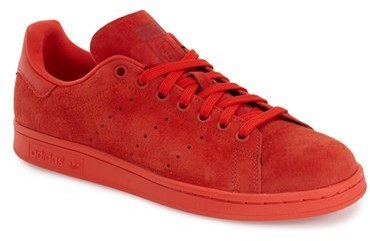 online store da240 eb5a1 $84, adidas Stan Smith Low Top Sneaker Size 10 M Red