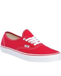 Vans Authentic Red Fashion Sneakers