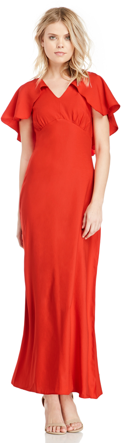 2dcb5ca09ca ... Glamorous Cape Maxi Dress In Red Xs M