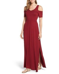Loveappella Cold Shoulder Maxi Dress