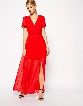 b54932b5314 Asos Collection Frill Sleeve Open Back Maxi Dress, $90 | Asos ...