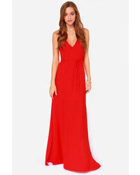 f1f6be71ec1 Aryn K French Riviera Coral Red Maxi Dress