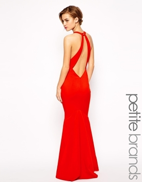 f818e6a270c ... Red Maxi Dresses Jarlo Petite Backless Maxi Dress ...