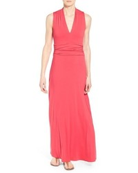 Petite v neck maxi dress medium 1249036