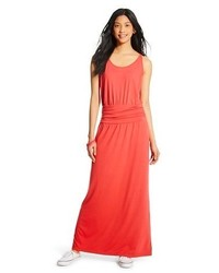 Mossimo Supply Co Sleeveless Ruched Waist Maxi Dress Supply Cotm