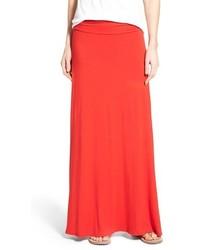 Ruched waist side slit maxi skirt medium 3663364