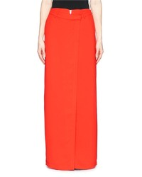 Alexander Wang T By Zip Drape Crepe Wrap Skirt