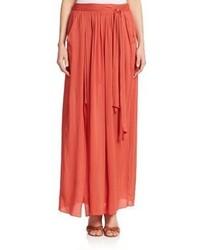 DKNY Tie Waist Maxi Skirt