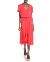 WAYF Blouson Midi Dress