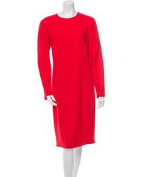 Calvin Klein Collection Long Sleeve Midi Dress