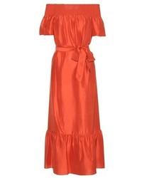 Tory Burch Ramona Silk Midi Dress