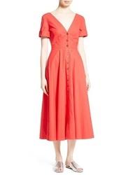 Saloni Zoey Stretch Cotton Midi Dress