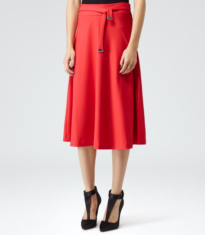 reiss emilia high waisted flared midi skirt where to buy