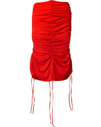 MARQUES ALMEIDA Ruched Voile Midi Skirt