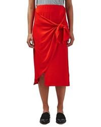 Topshop boutique tie front midi skirt medium 1211573