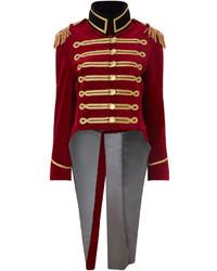 Pinky Laing Burgundy Velvet Military Tailcoat Jacket