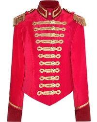 Pink velvet military jacket medium 637629