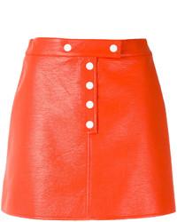 Courreges Courrges Buttoned Mini Skirt