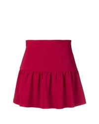 RED Valentino Gathered Hem Mini Skirt