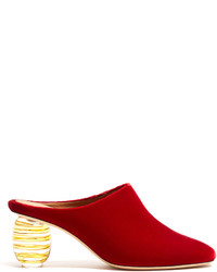 The Row Adela Velvet Mules