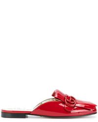 Gucci Gg Marmont Patent Mules