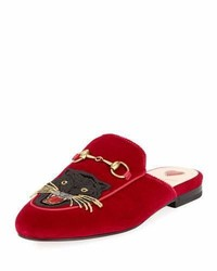 Gucci Princetown Velvet Angry Cat Mule