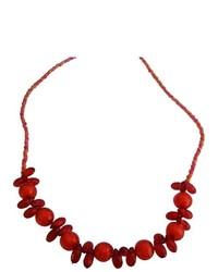 FashionJewelryForEveryone Striking Red Beads Girls Long Necklace