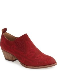 Red Nubuck Ankle Boots