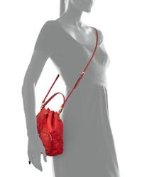 b1061f3a3652 Prada Tessuto Mini Bucket Crossbody Bag Red, $545 | Neiman Marcus ...