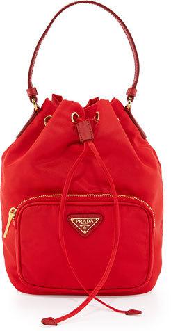 265dead317cf2f Prada Tessuto Mini Bucket Crossbody Bag Red, $545 | Neiman Marcus ...