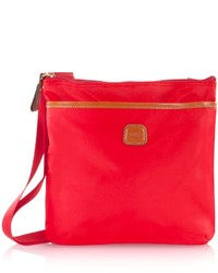 Red Nylon Crossbody Bag