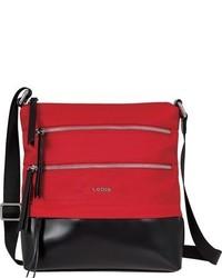Lodis Wanda Rfid Nylon Leather Crossbody Bag Black