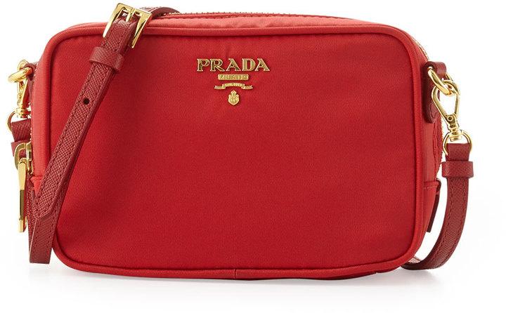 447100305b129a Prada Tessuto Small Crossbody Bag Red, $430 | Neiman Marcus ...