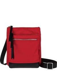 Lodis Zora Rfid Nylon Leather Crossbody Bag Black