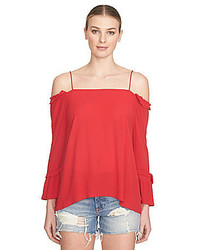 1 STATE 1 State Smocked Cold Shoulder Blouse