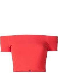 Aliceolivia off shoulder cropped knit top medium 532223
