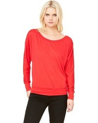 Cletine Flowy Long Sleeve Off Shoulder T Shirt