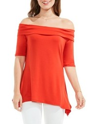 Vince Camuto Jersey Off The Shoulder Top