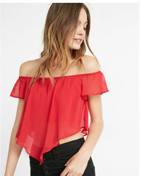 Express Off The Shoulder Abbreviated Blouse