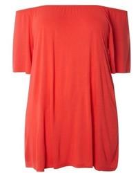 Plus size off the shoulder knit top medium 5262367