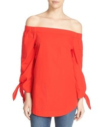 Free People Show Me Some Shoulder Off The Shoulder Cotton Blouse