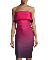 Popover strapless ombr scuba dress wine medium 1251032