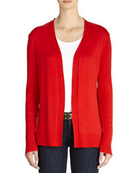 Red Open Cardigan