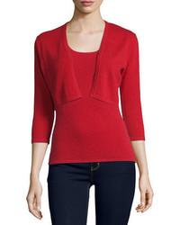 Cashmere collection 34 sleeve modern cashmere shrug medium 666412