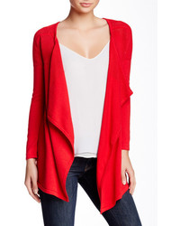 Sweet Romeo Draped Front Knit Cardigan
