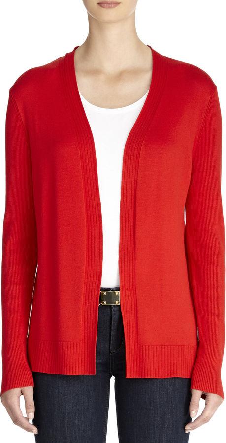Red Open Front Cardigan Open Front Cardigan Red