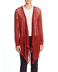 DKNY Mesh Open Front Knit Cardigan