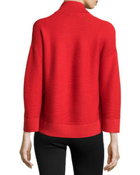 Natori Rib Knit Open Front Sweater Tomato Red | Where to buy & how ...