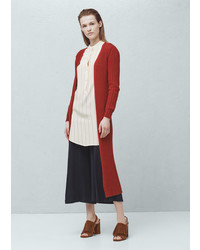 Mango Outlet Ribbed Cotton Cardigan